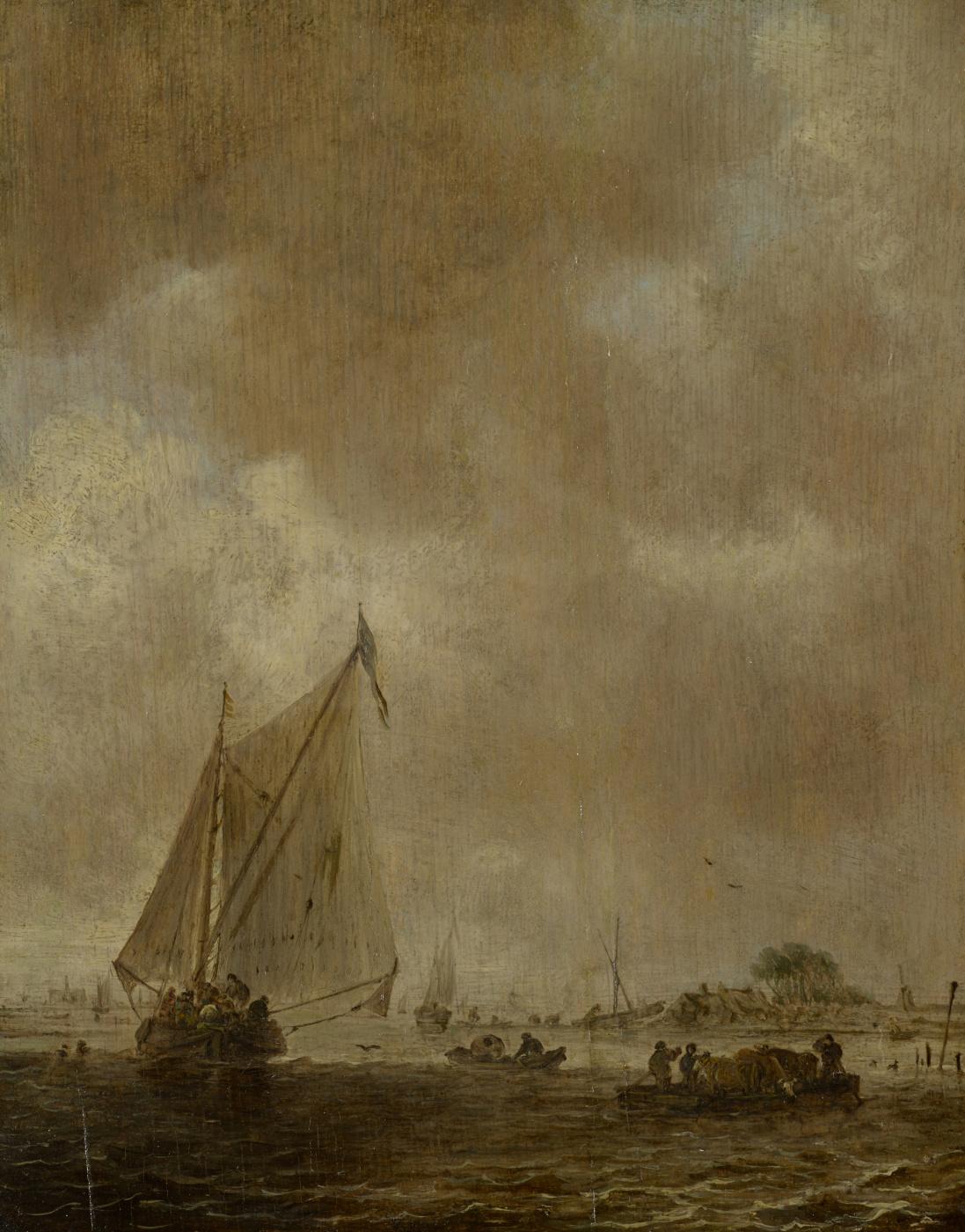 Jan van Goyen. Sailboat