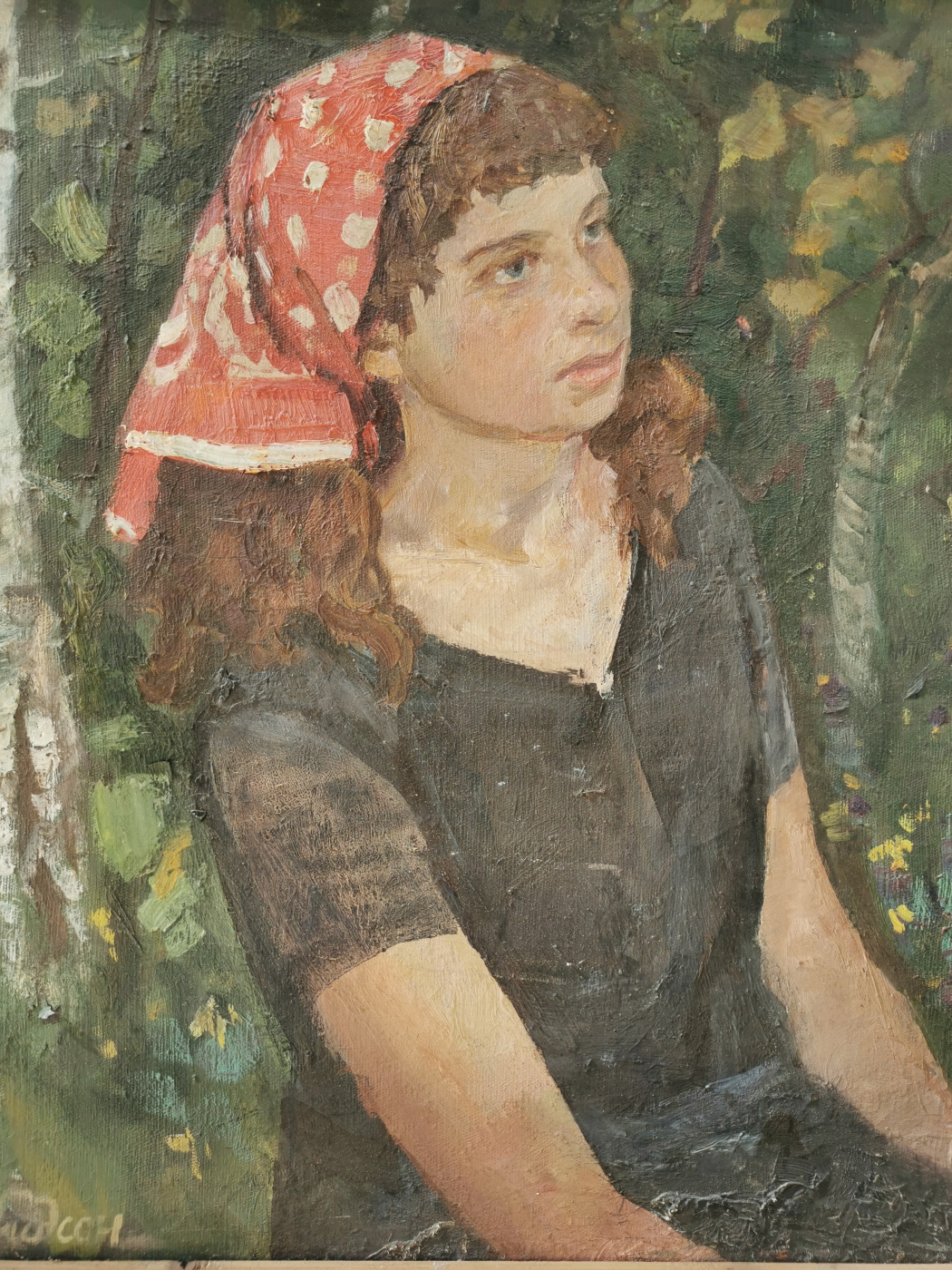 Maria Solomonovna Davidson. Portrait of daughter