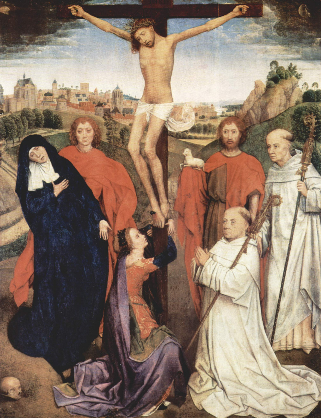 Hans Memling. The crucifixion. Triptych Of Jan Crabbe. The Central part
