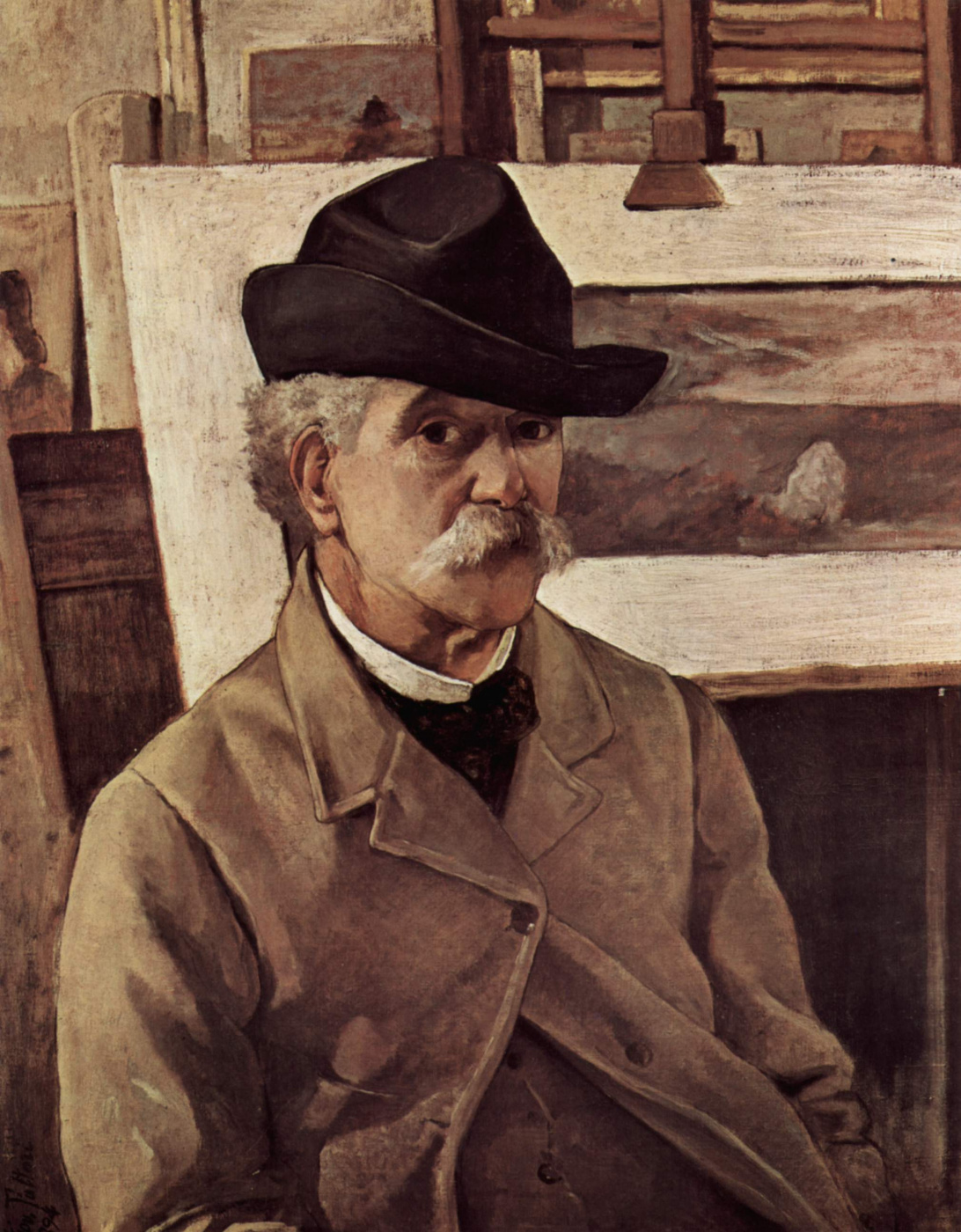 Giovanni Fattori. Self-portrait at sixty