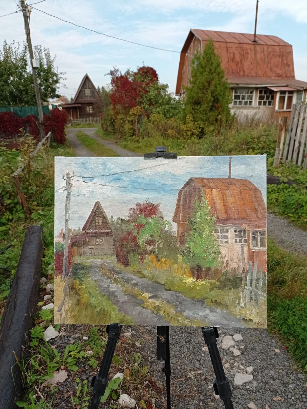 Christina Shchekina. Strelna, autumn