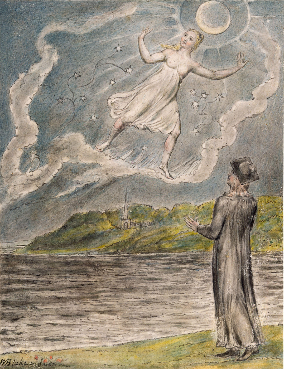 "William Blake. Wandering Moon. Illustrations to the poems of Milton's ""Fun"" and ""Thoughtful"""