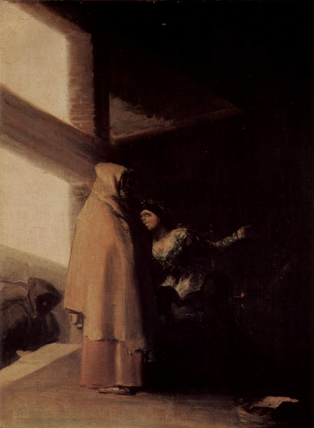 """Francisco Goya. Cycle of paintings """"the Horrors of war."""" The visit of the monk"""