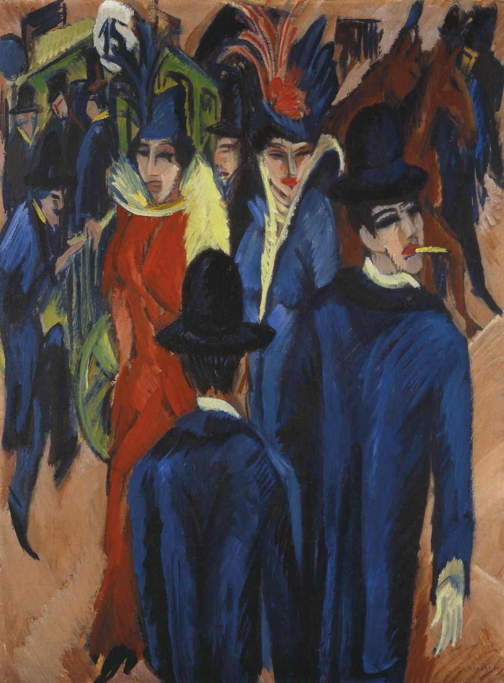 Ernst Ludwig Kirchner. Berlin Street Scene