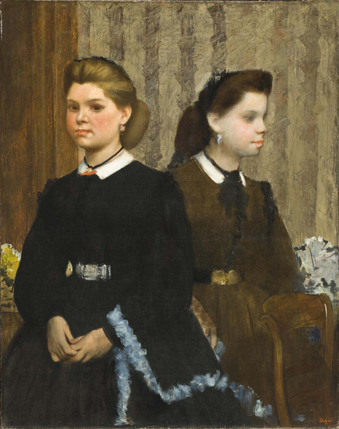 Edgar Degas. The Bellelli Sisters (Giovanna and Giuliana Bellelli)