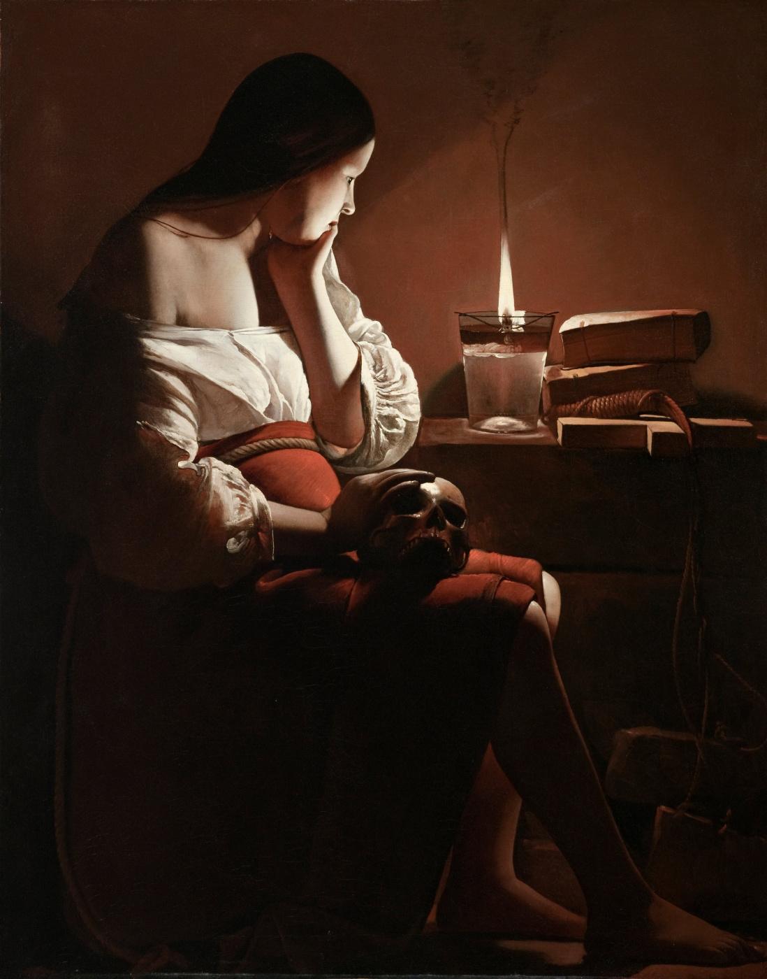 Georges de La Tour. The Penitent Magdalene