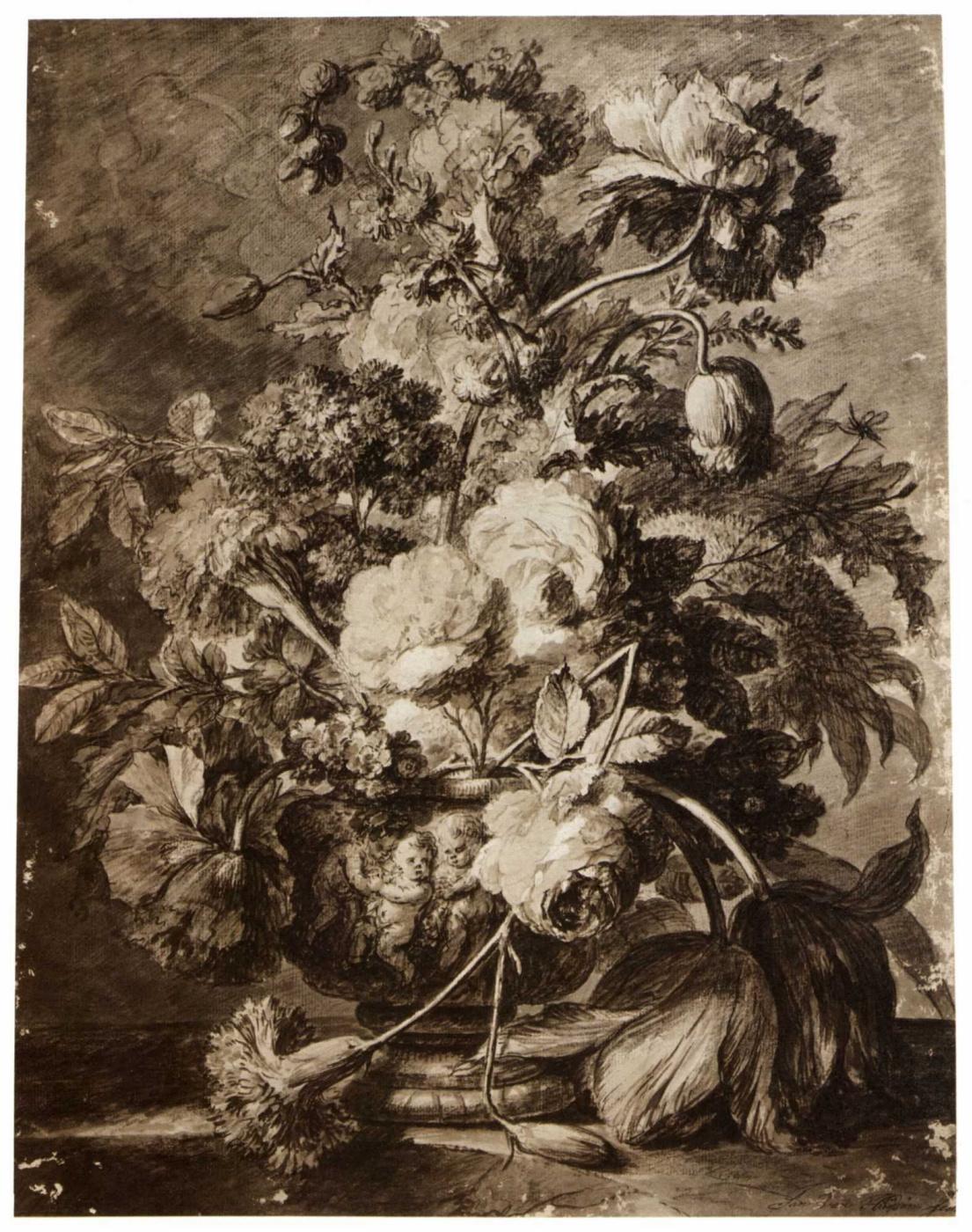 Jan van Hayesum. A bouquet of flowers