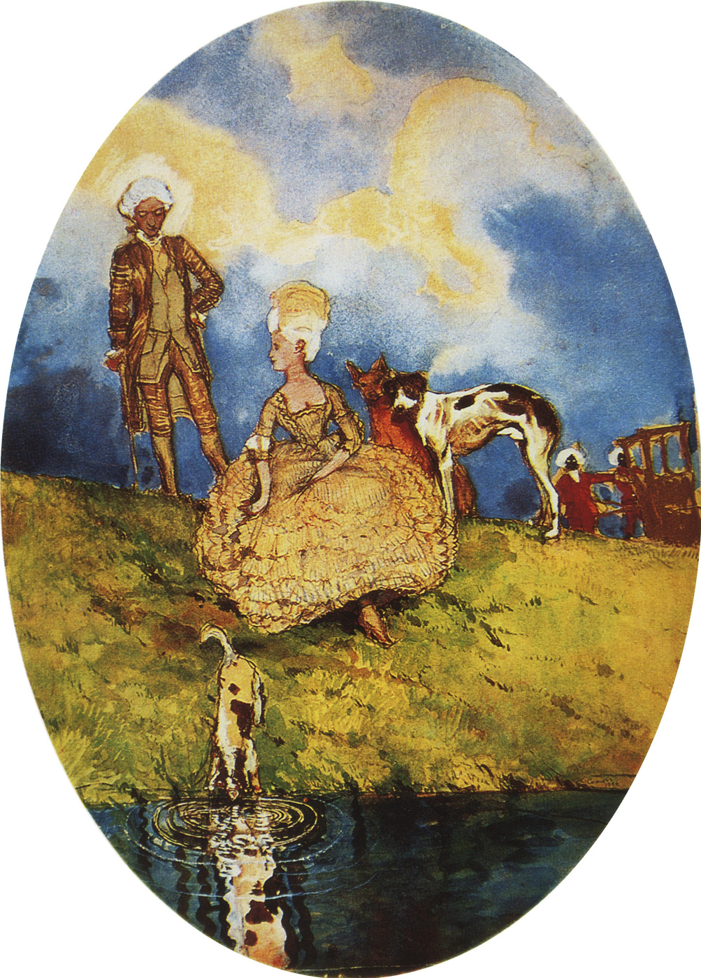Constantin Somov. Rest on the walk