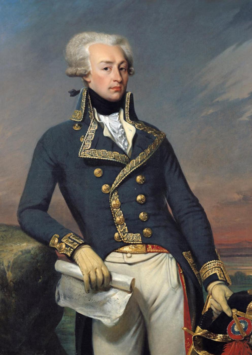 Joseph Désiré Cours. Portrait of Marquis Gilbert La Fayette