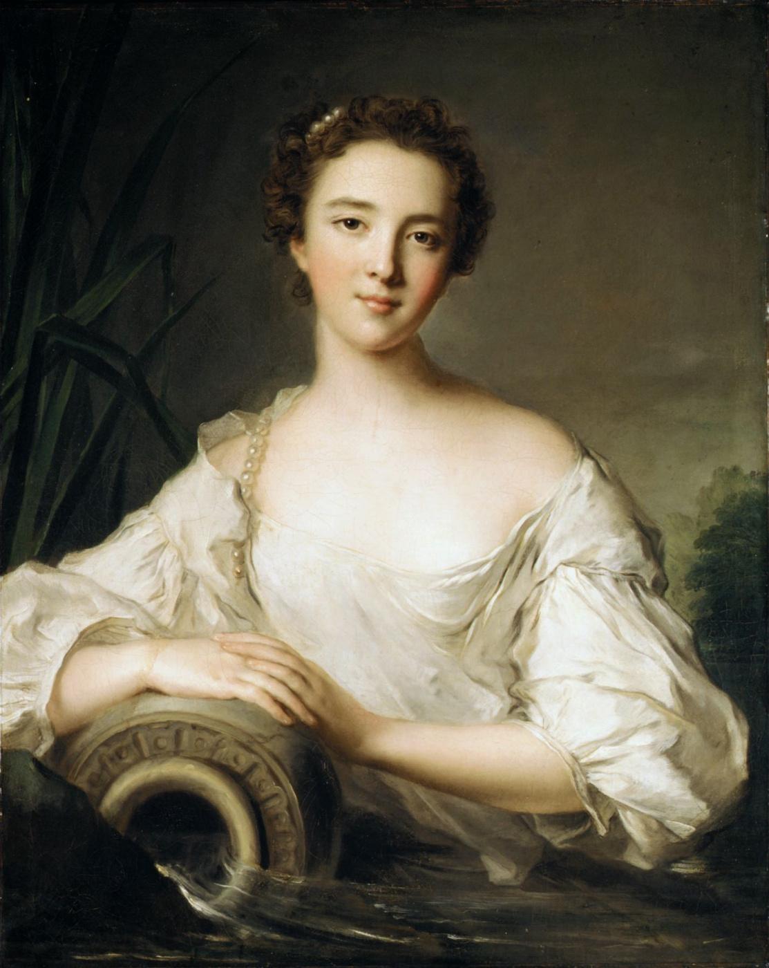 Jean-Marc Nate. Луиза Генриетта де Бурбон-Конти (1726-1759), позже герцогиня Орлеанская