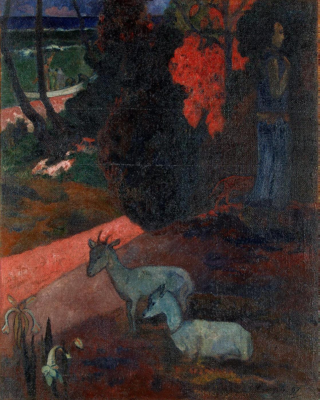 Paul Gauguin. Landscape with two goats