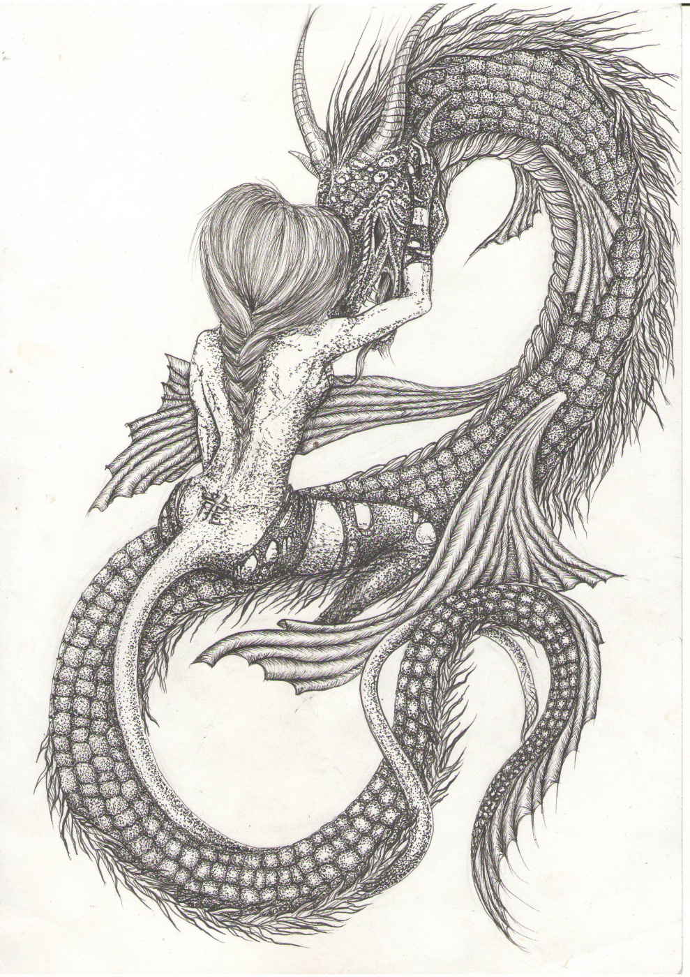 Ekaterina Valerievna Rubleva. With dragon