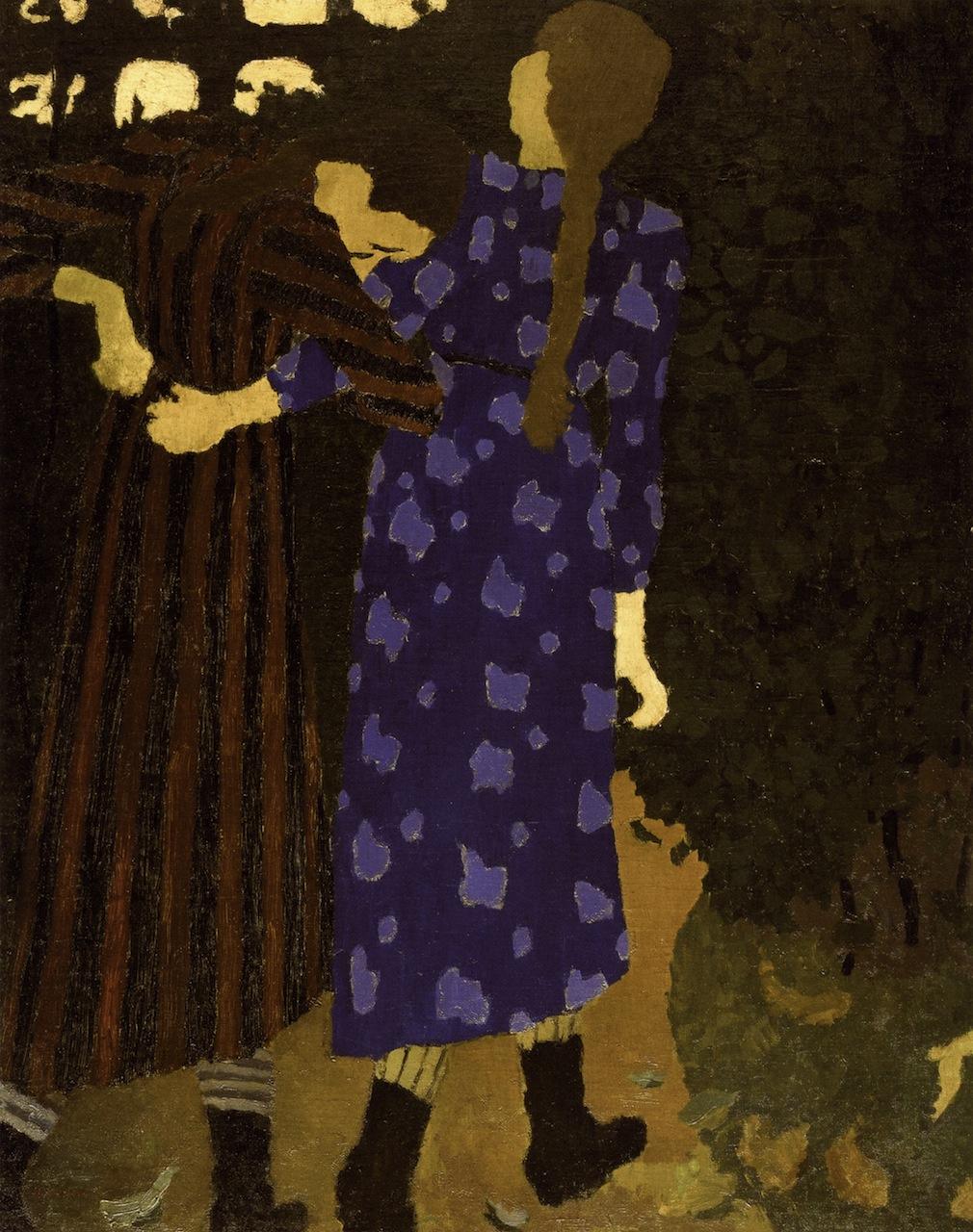 Jean Edouard Vuillard. Walking girls