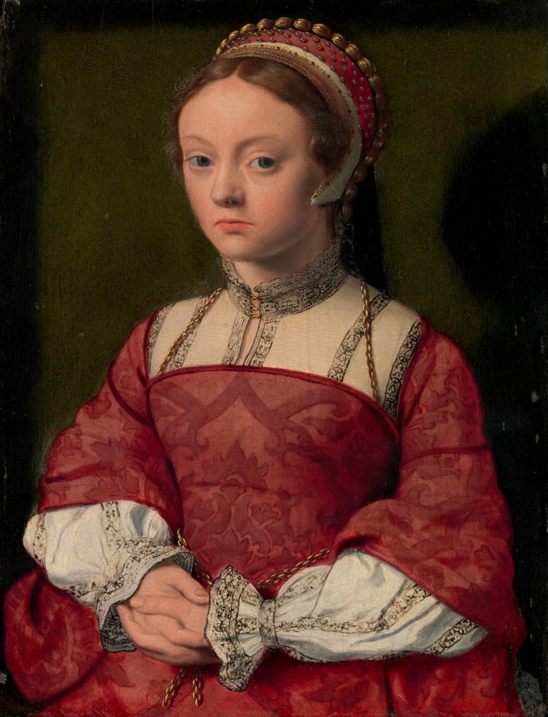 Unknown artist. Dutch school. Around 1535 Portrait of a young woman.