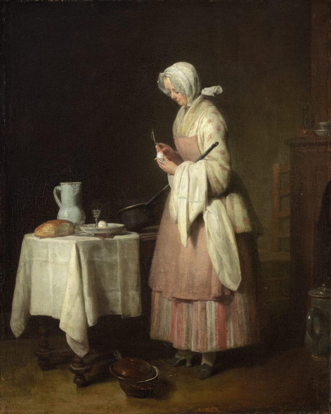 Jean Baptiste Simeon Chardin. Thrifty maid