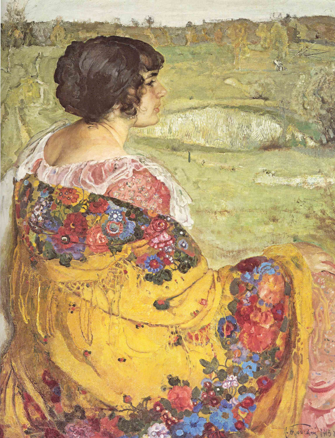 Isaac Brodsky. Portrait of Lyubov Makarovna Brodskaya