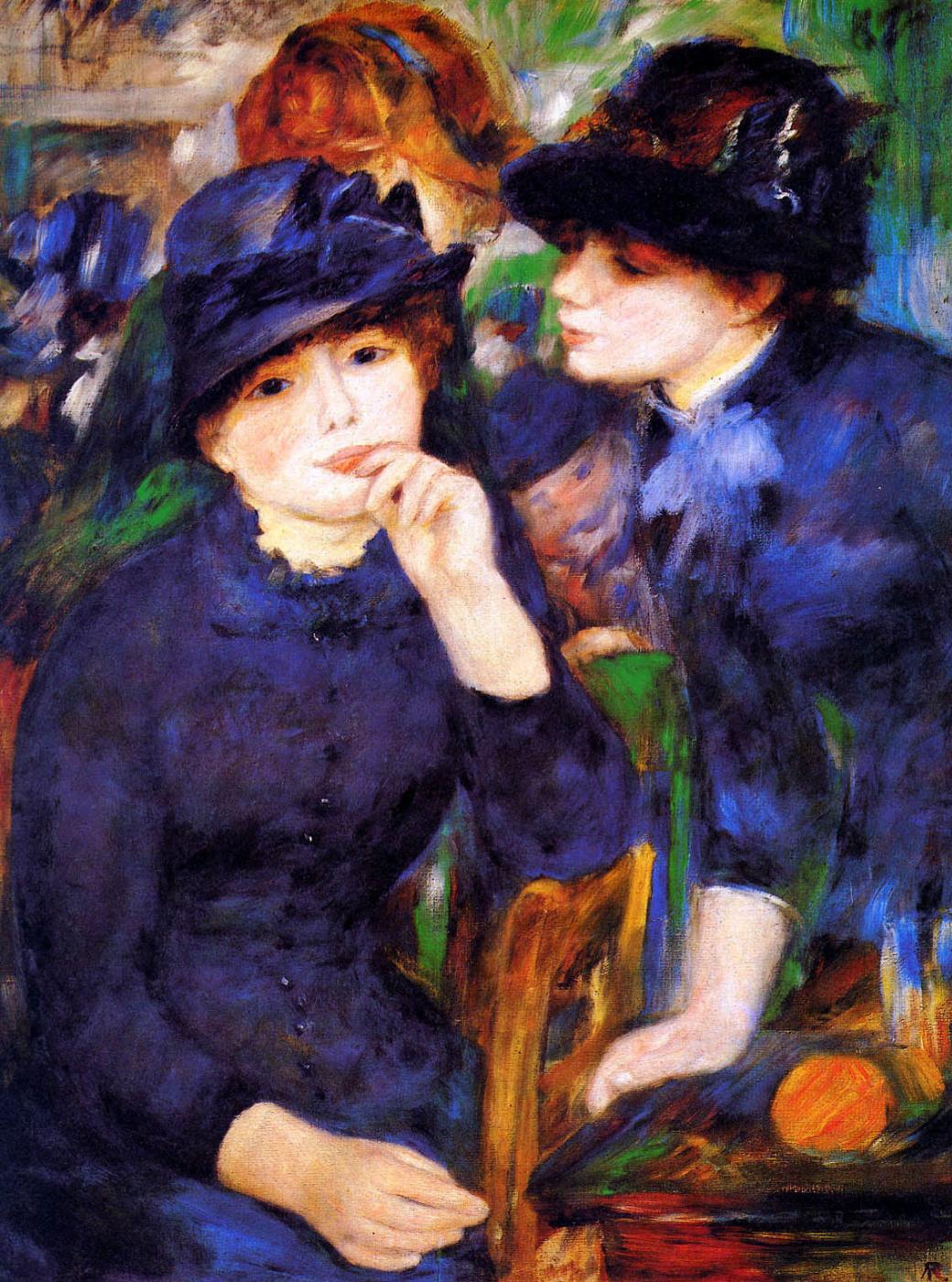 Pierre-Auguste Renoir. Two Girls in Black