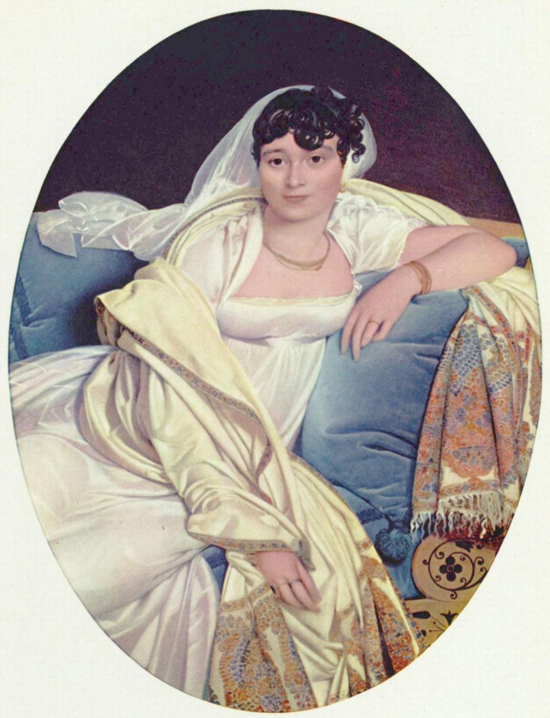 Jean Auguste Dominique Ingres. Portrait of Madame Riviere, née Marie Françoise Bibin Bloe de Beauregard