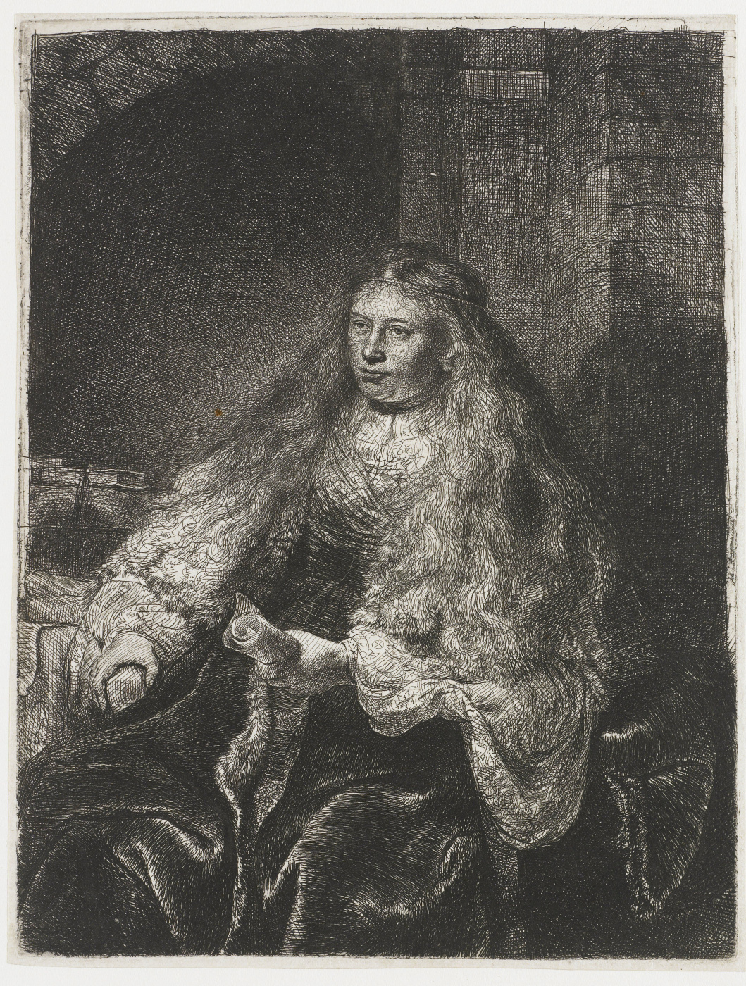 Rembrandt Harmenszoon van Rijn. A large Jewish bride