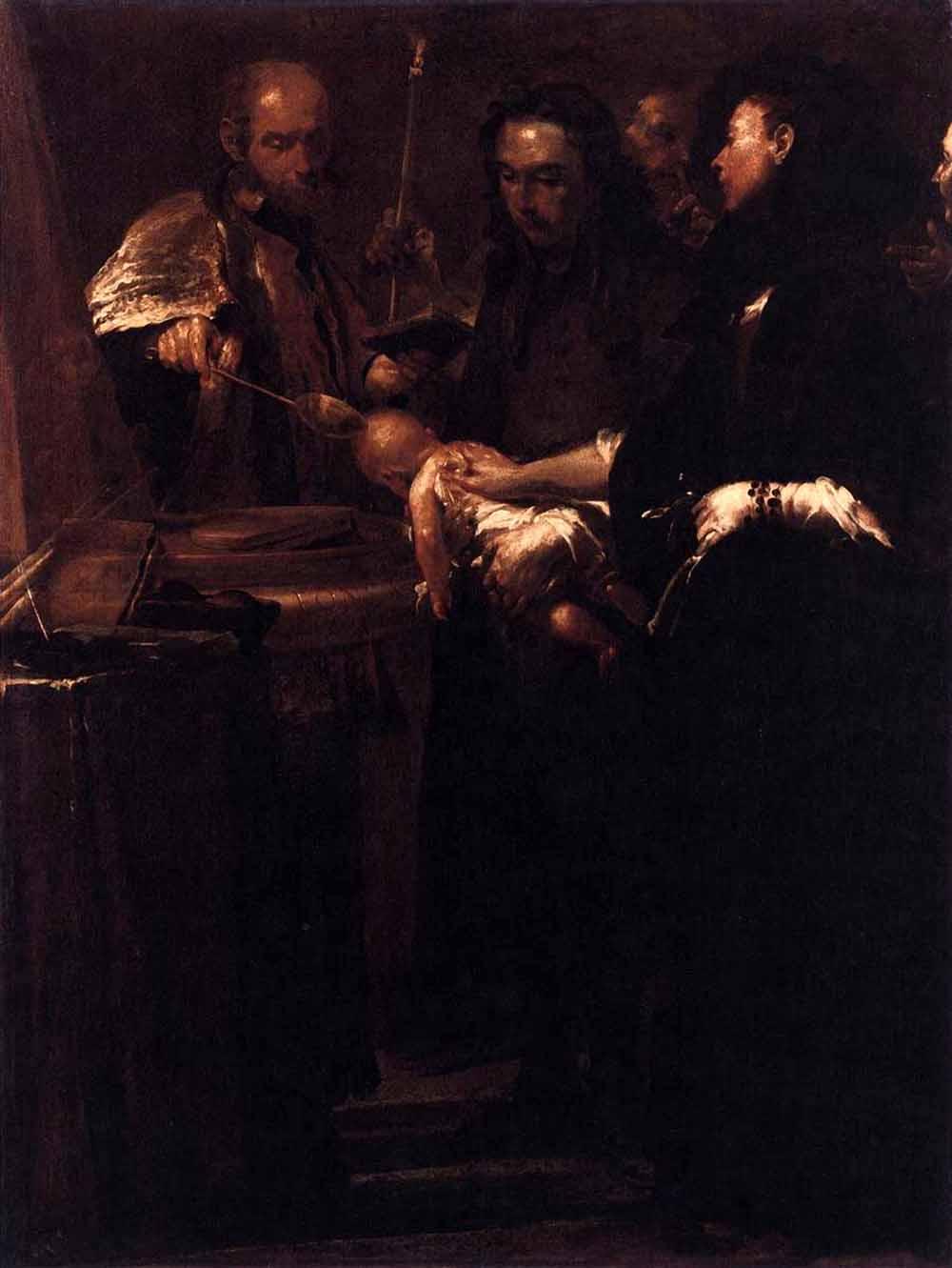 "Giuseppe Maria Crespi. Baptism. From the series ""Seven sacraments"""