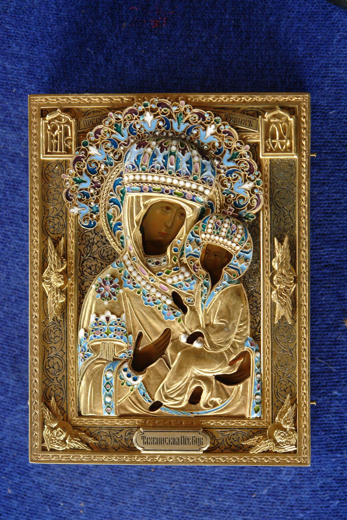Moscow Icon Painting Workshop. The icon of Theotokos of Tikhvin