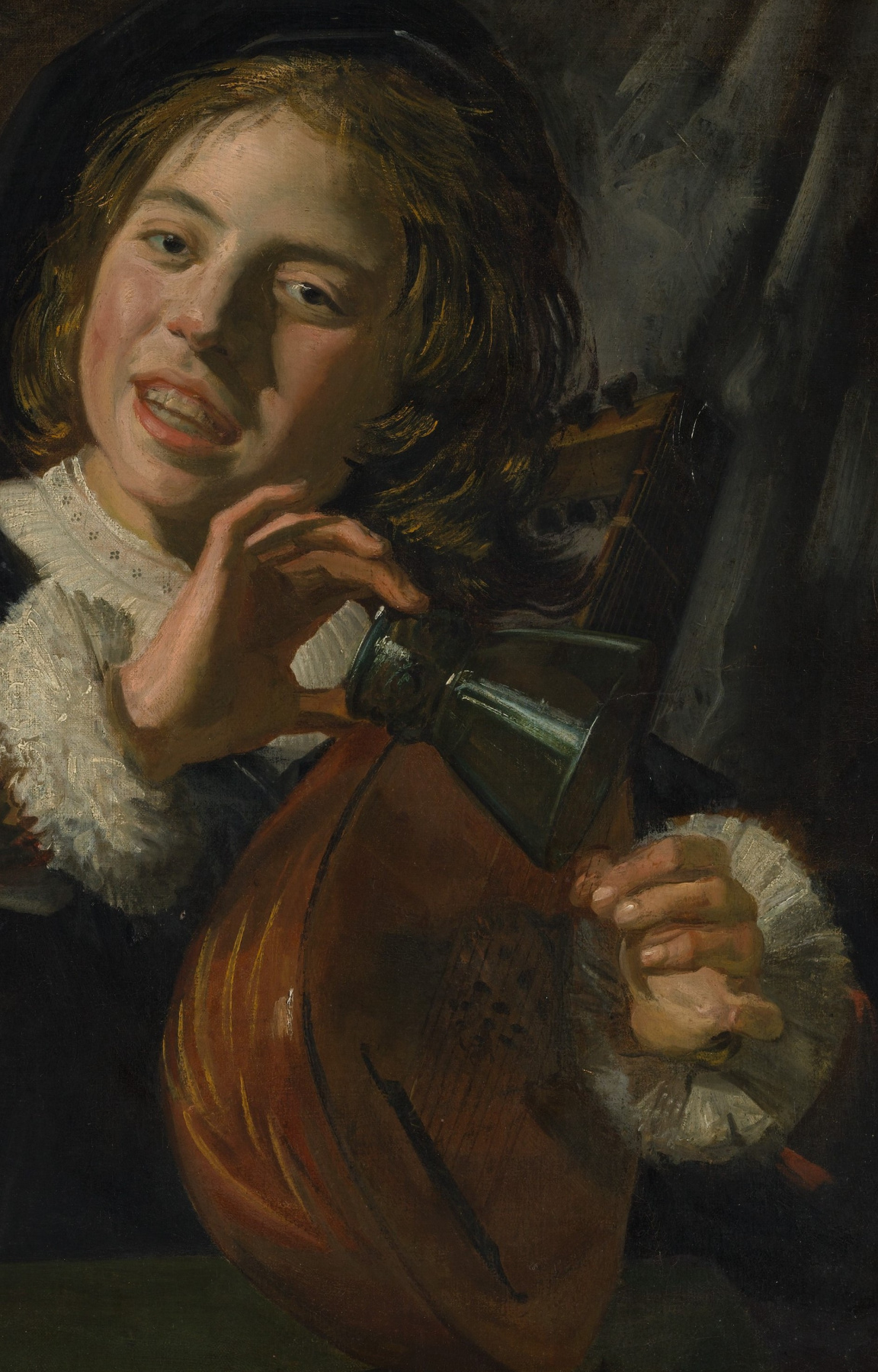 France Hals. The boy with the lute. Fragment
