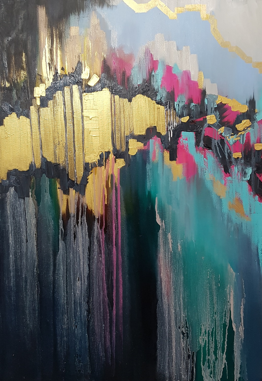 Larissa Uvarova. Abstract painting Love: MAX point