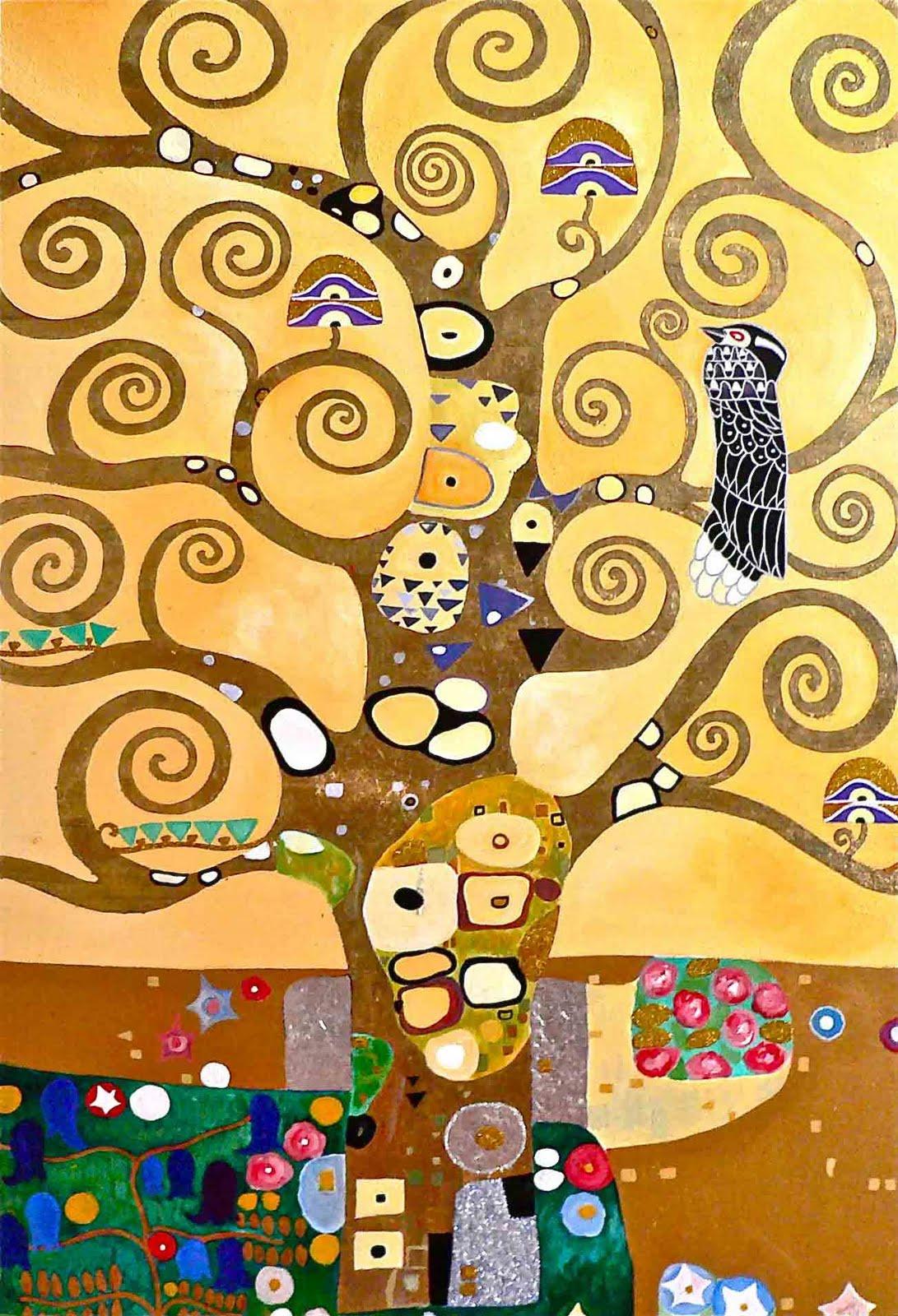 Gustav Klimt. Stoclet frieze. Tree. (fragment)