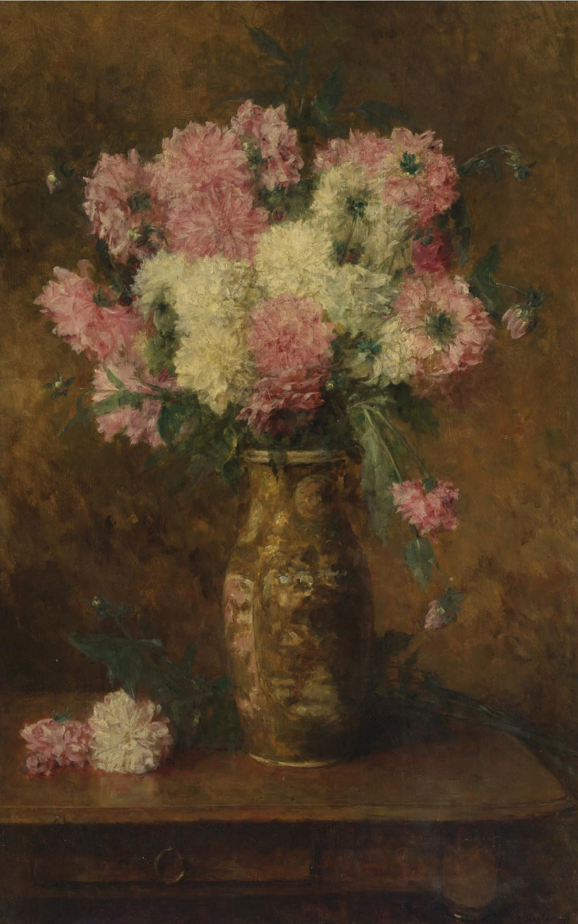 Alexey Alekseevich Kharlamov. Vase with Flowers.