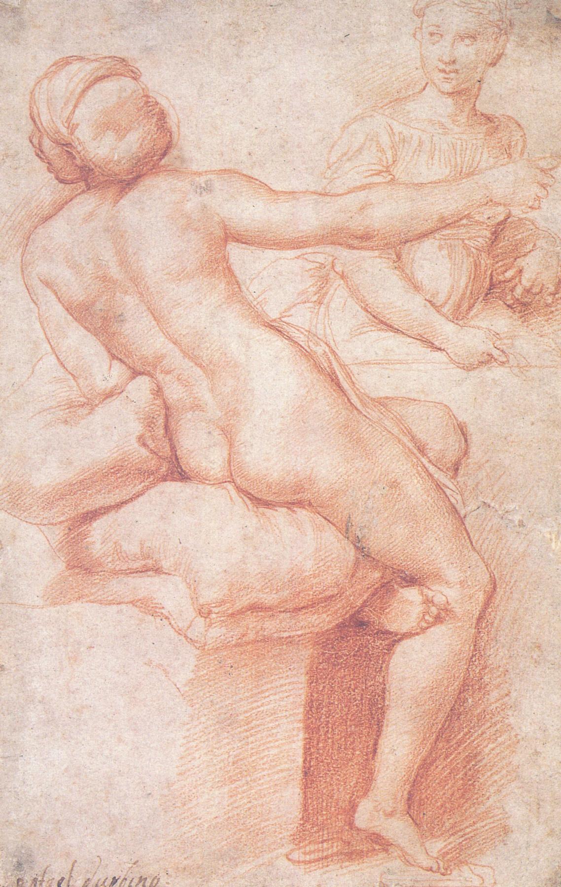 Raphael Sanzio. Hebe and Proserpine. Etude