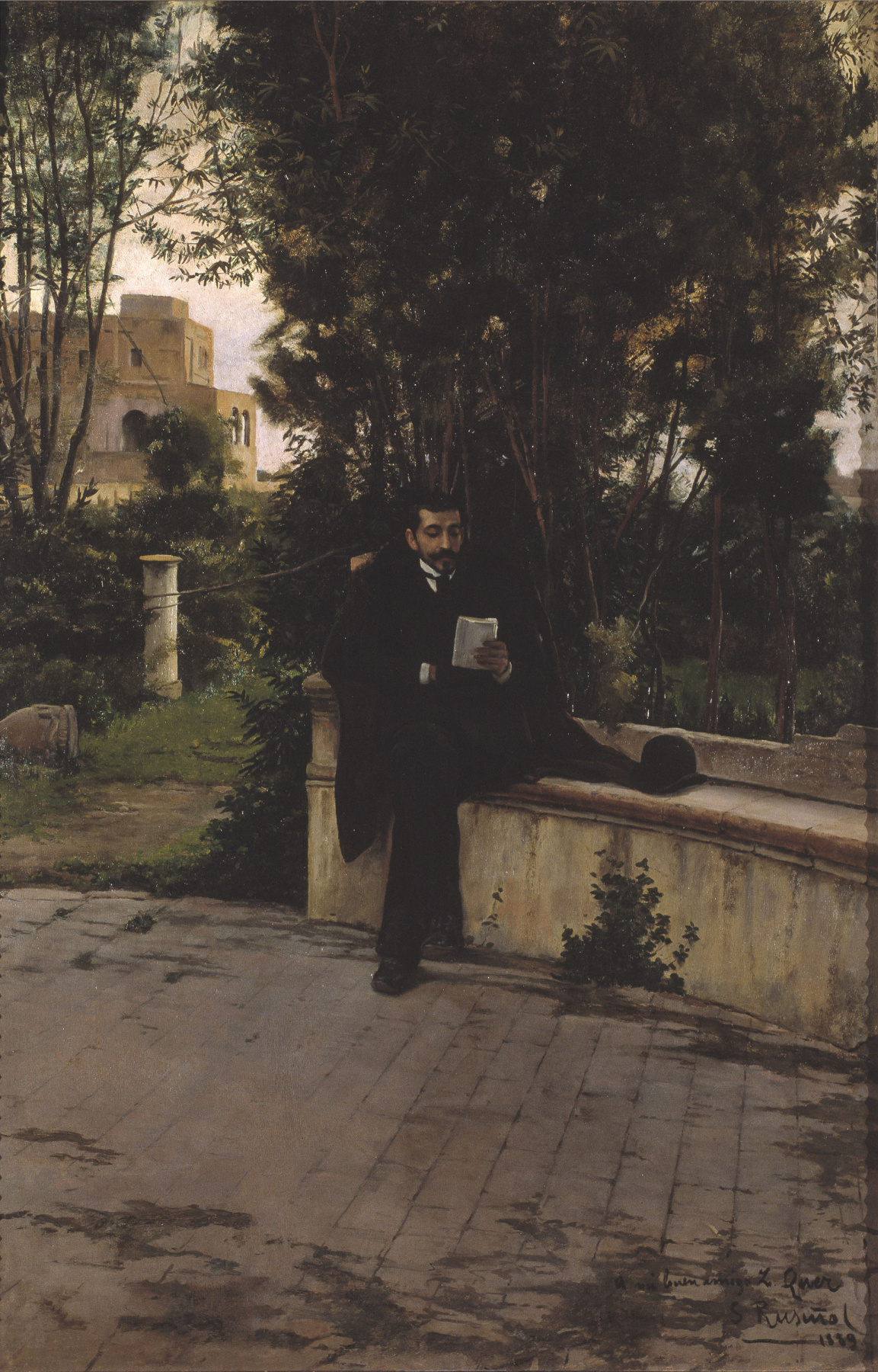 Santiago Rusignol. Senyor Quer in the Garden