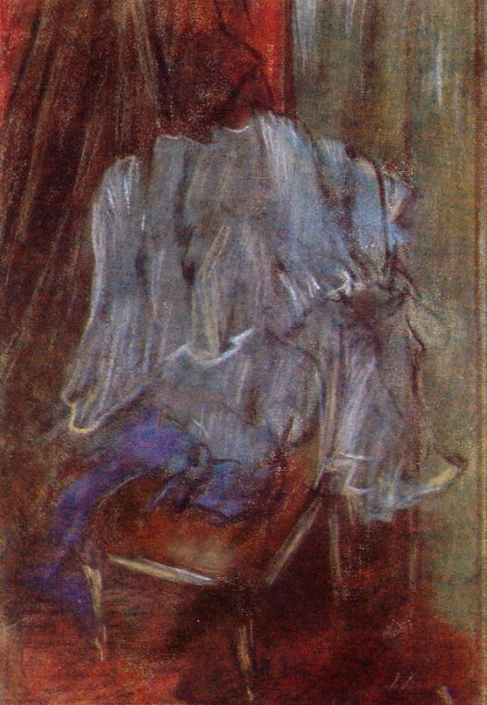 Edgar Degas. Clothes on the chair