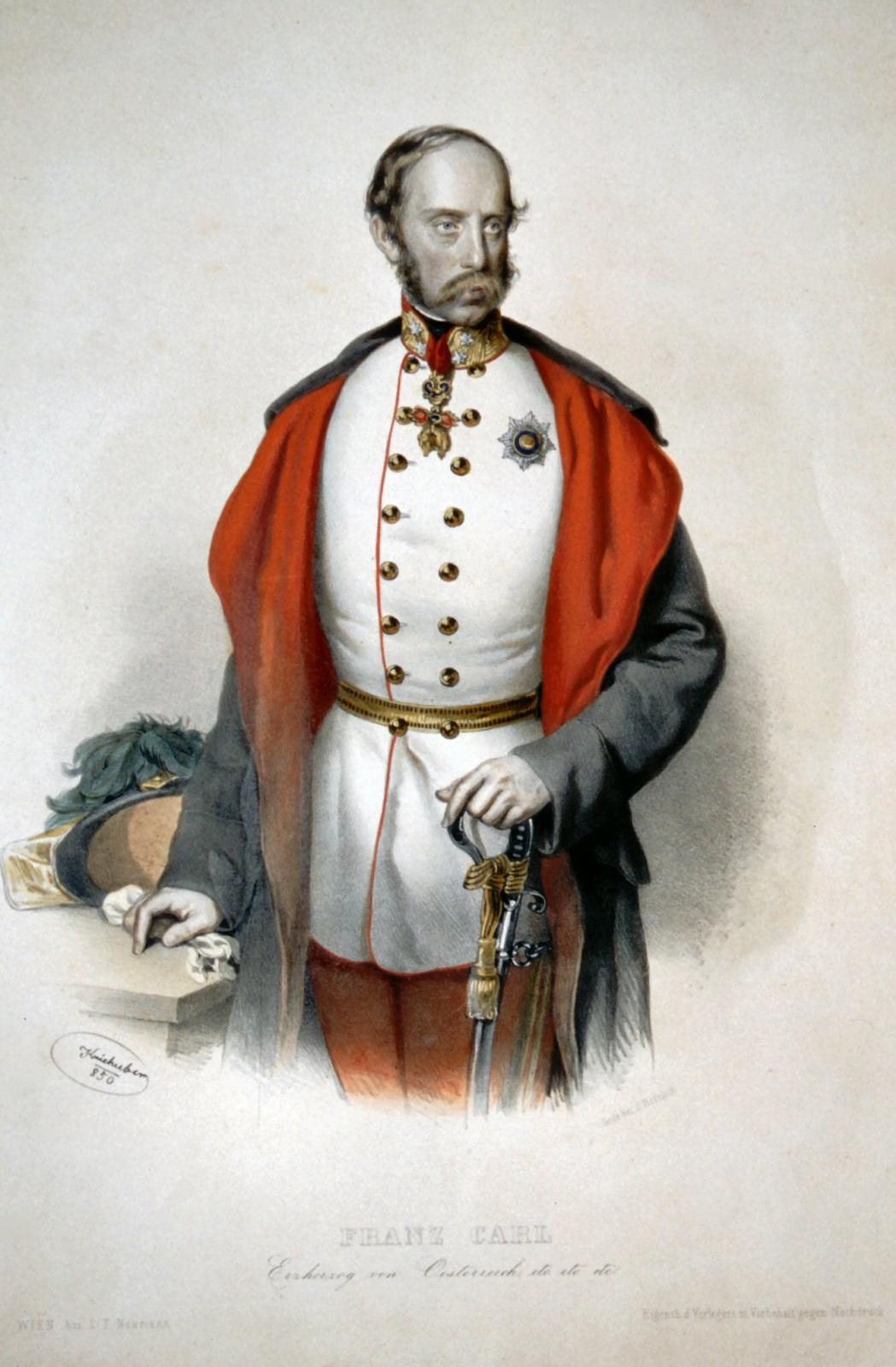Joseph Krihuber. Franz Karl of Austria