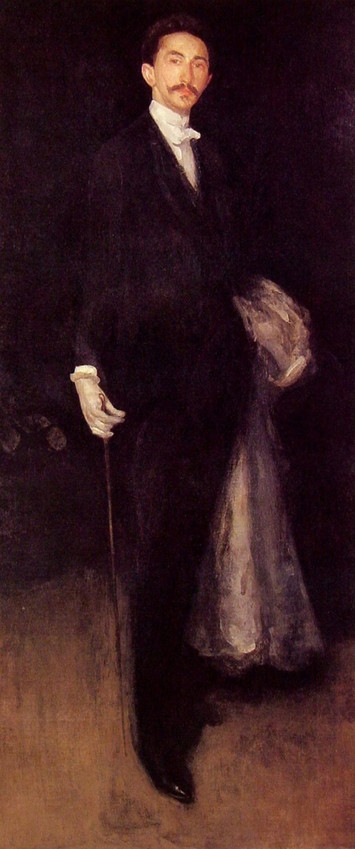 James Abbot McNeill Whistler. Composition in black and gold: a Portrait of Robert de Montesquiou-Fezensac