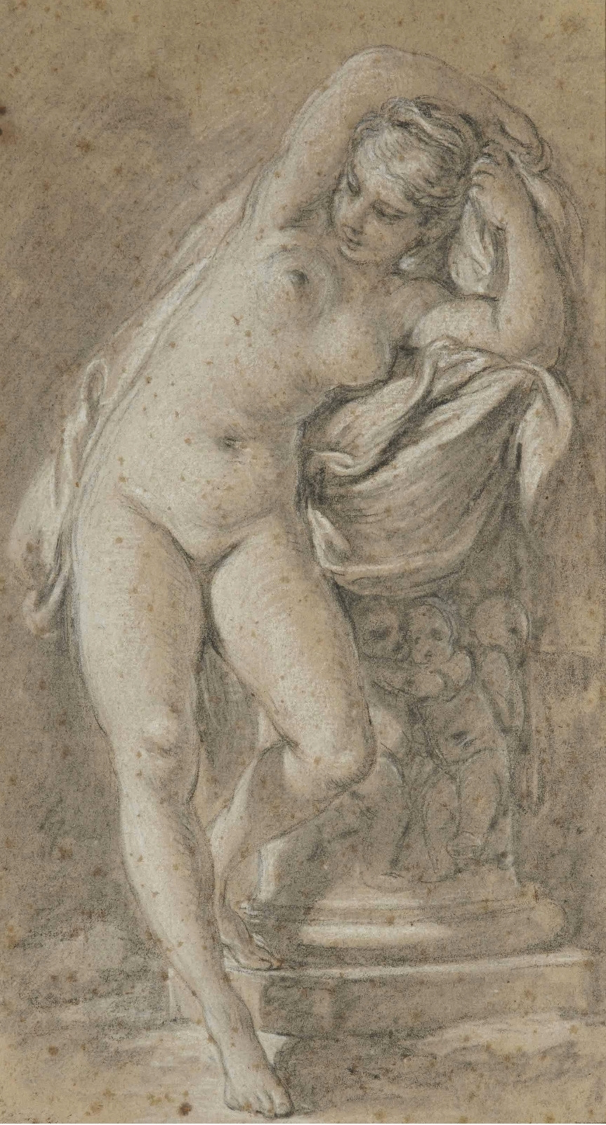 Francois Boucher. Standing nude