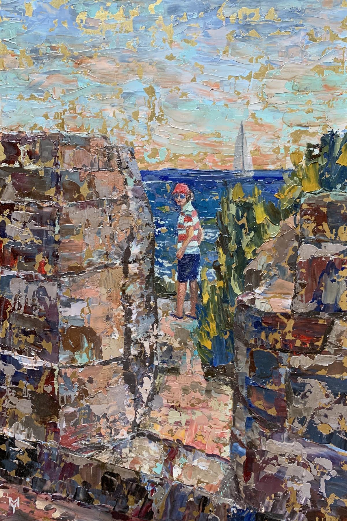 "Julia Mamontova. ""Young Commandant of Fort Delges"", 2020, brass, oil, 30 * 20 cm"