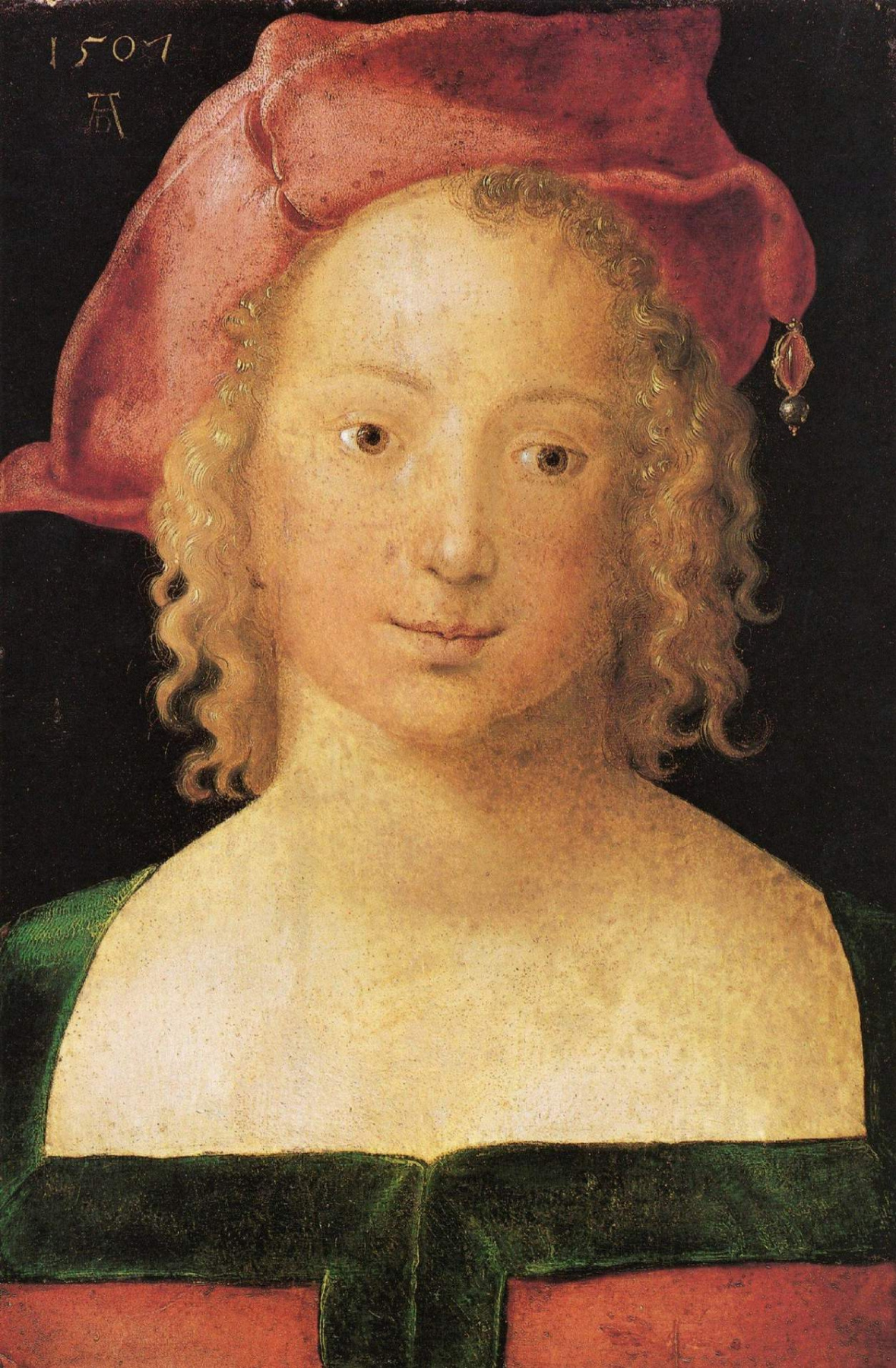 Albrecht Durer. Portrait of a girl in a red beret