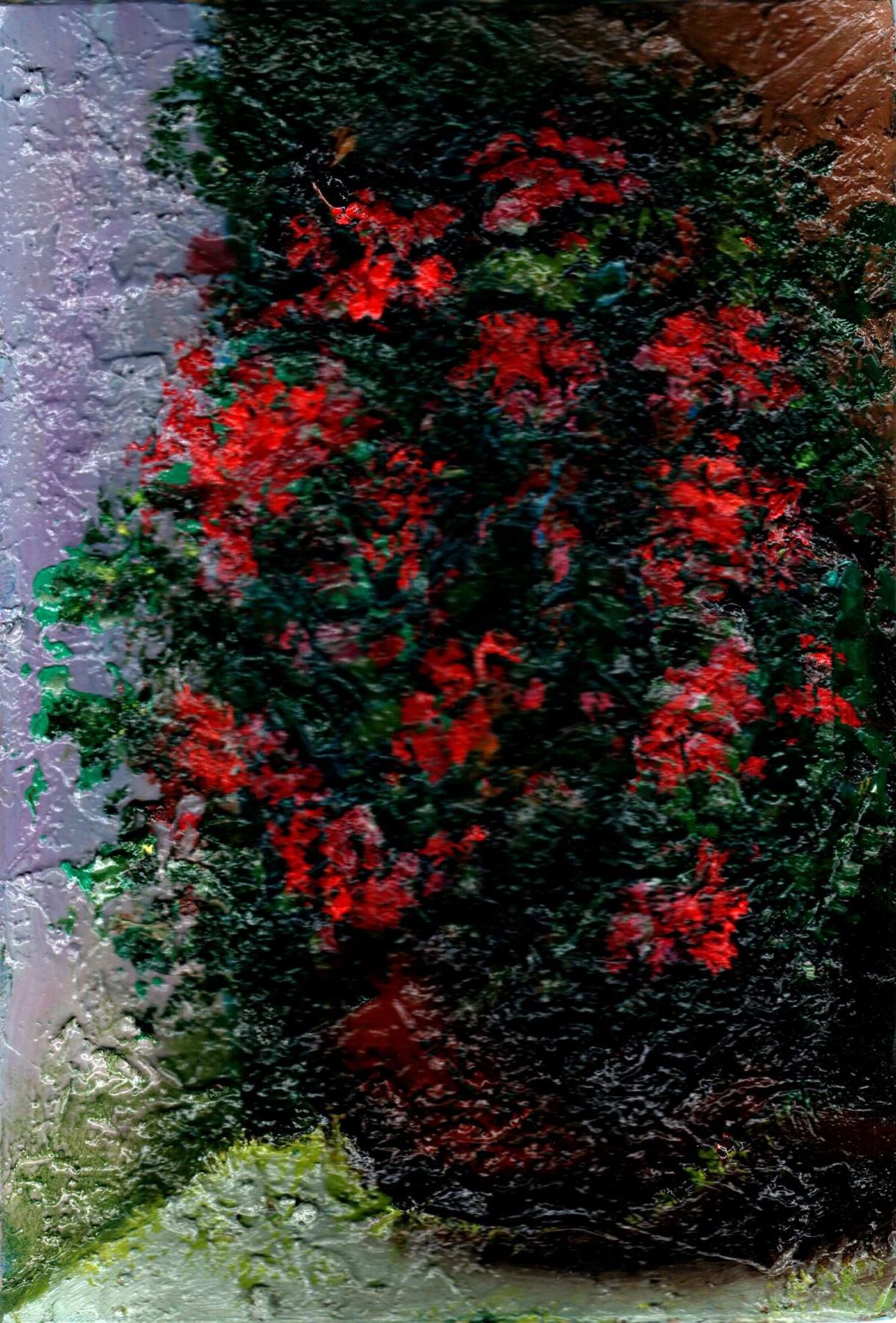 Vladimir Vasilyevich Abaimov. Red Flowers in a Pot