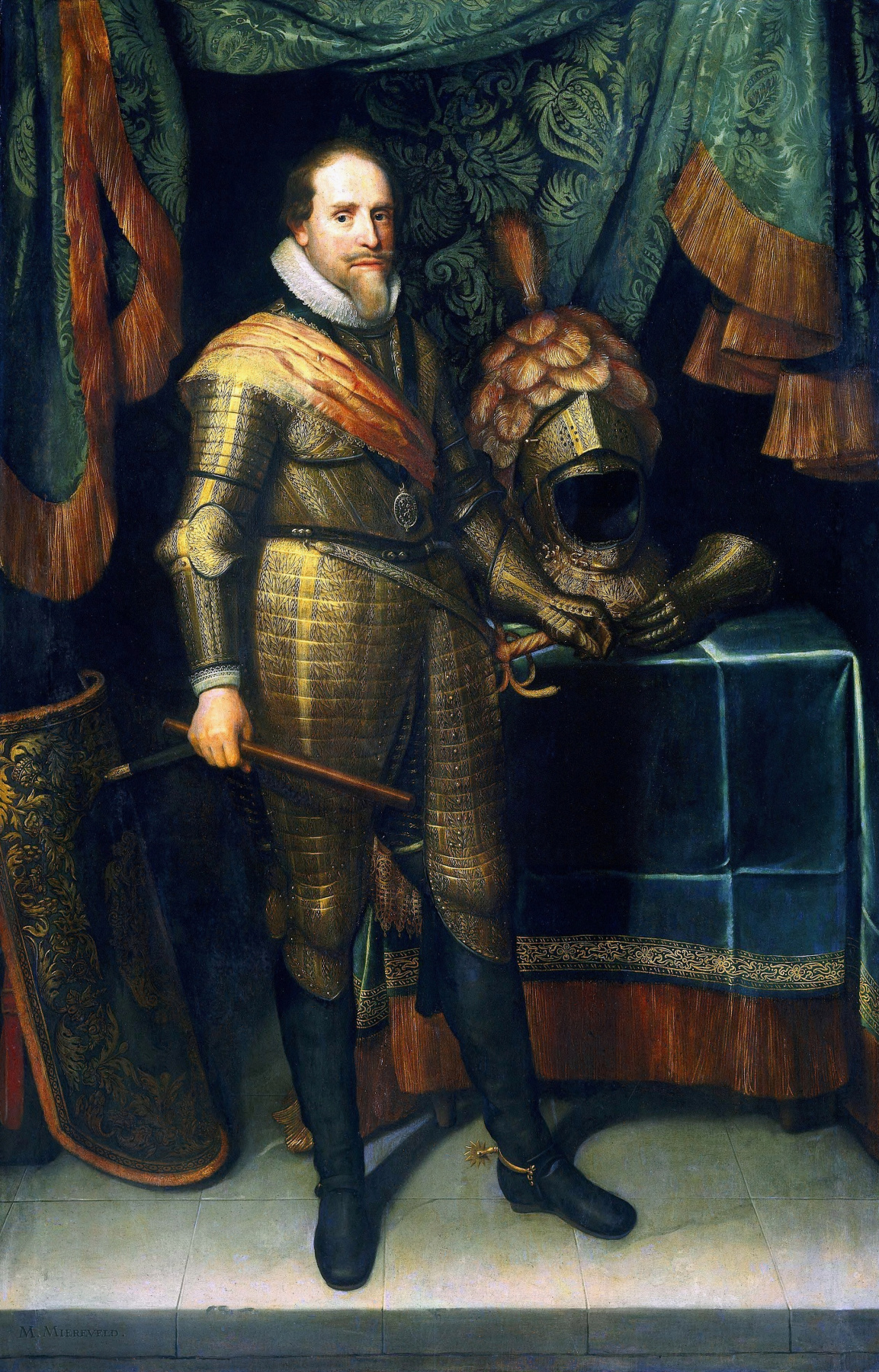 Janson Mihil van Mireveld. Portrait of Maurits, Prince of Orange