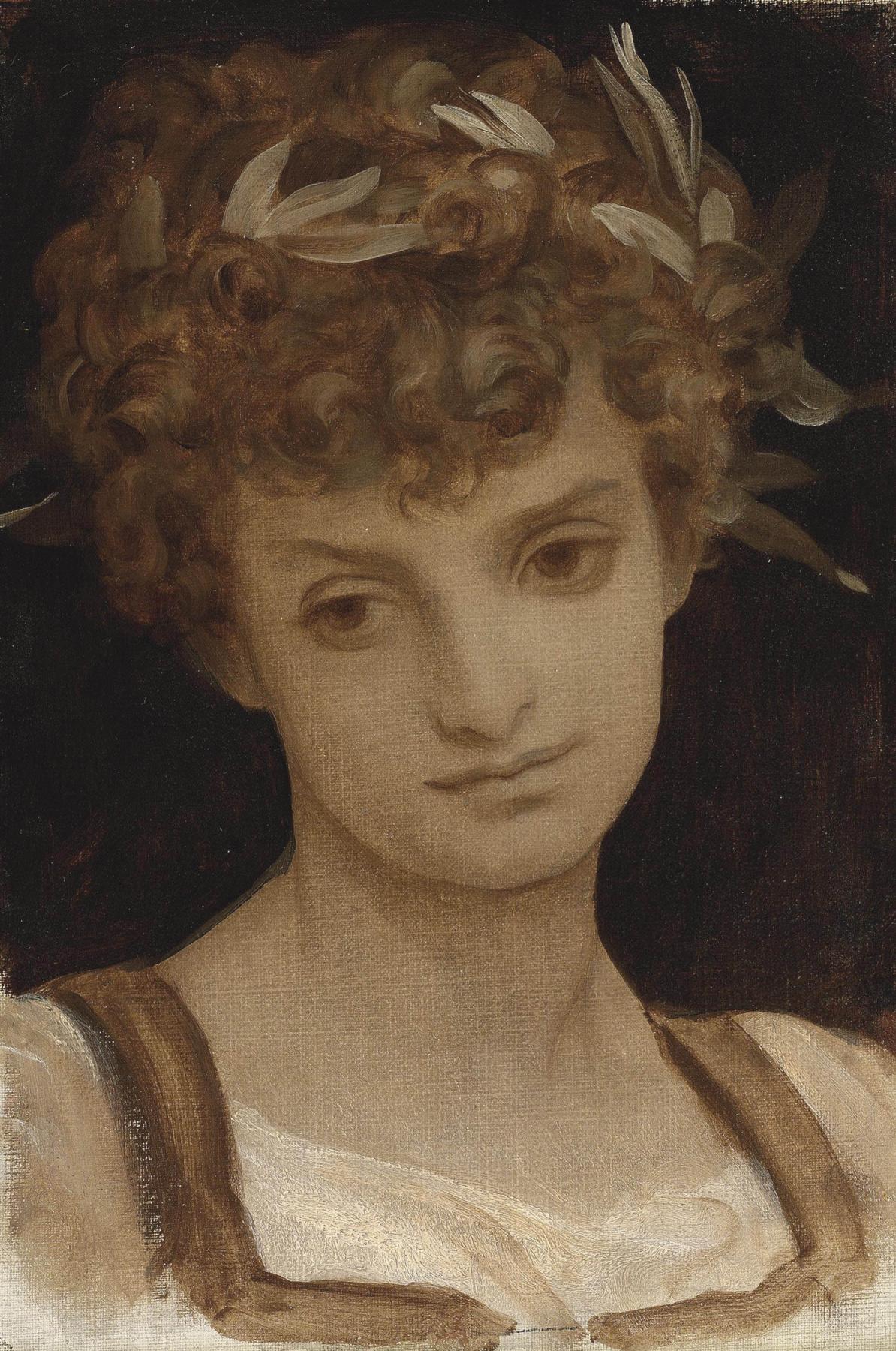 Frederic Leighton. Study of a Girl's Head