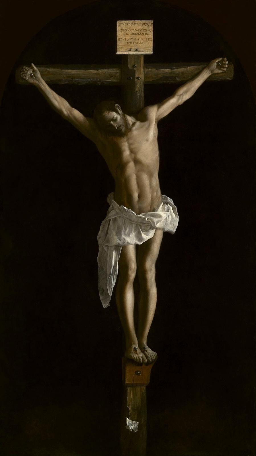Francisco de Zurbaran. Christ on the cross
