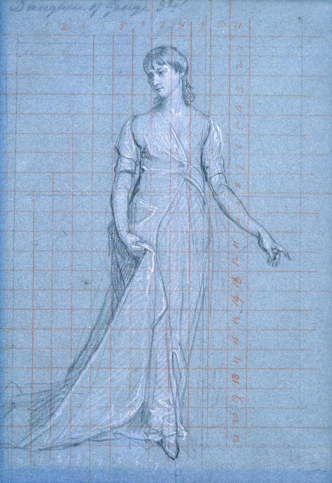John Singleton Copley. The Family Of Knutsbol. Sketch. Daughter