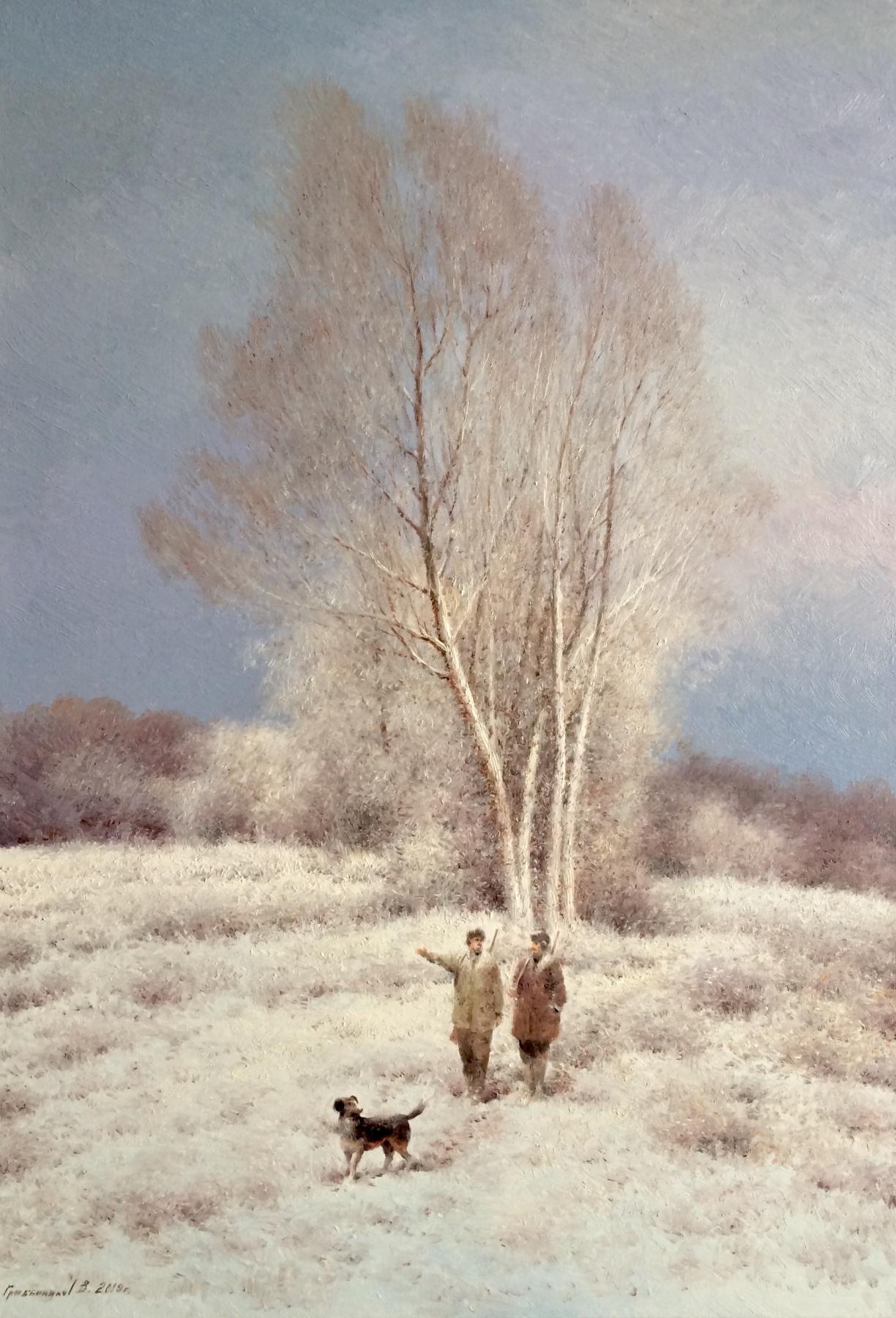 Vasily Ivanovich Gribennikov. Winter. Hunters