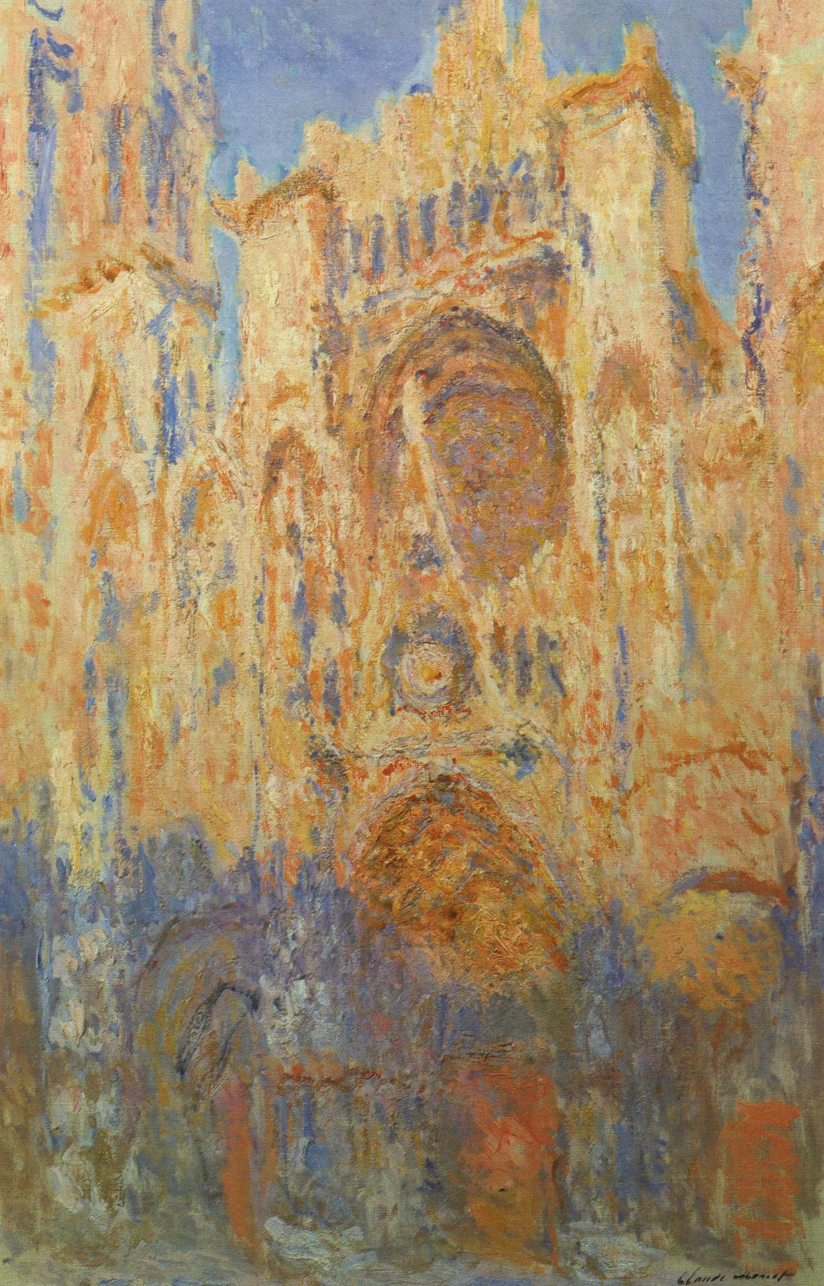 Claude Monet. Rouen Cathedral, sunset
