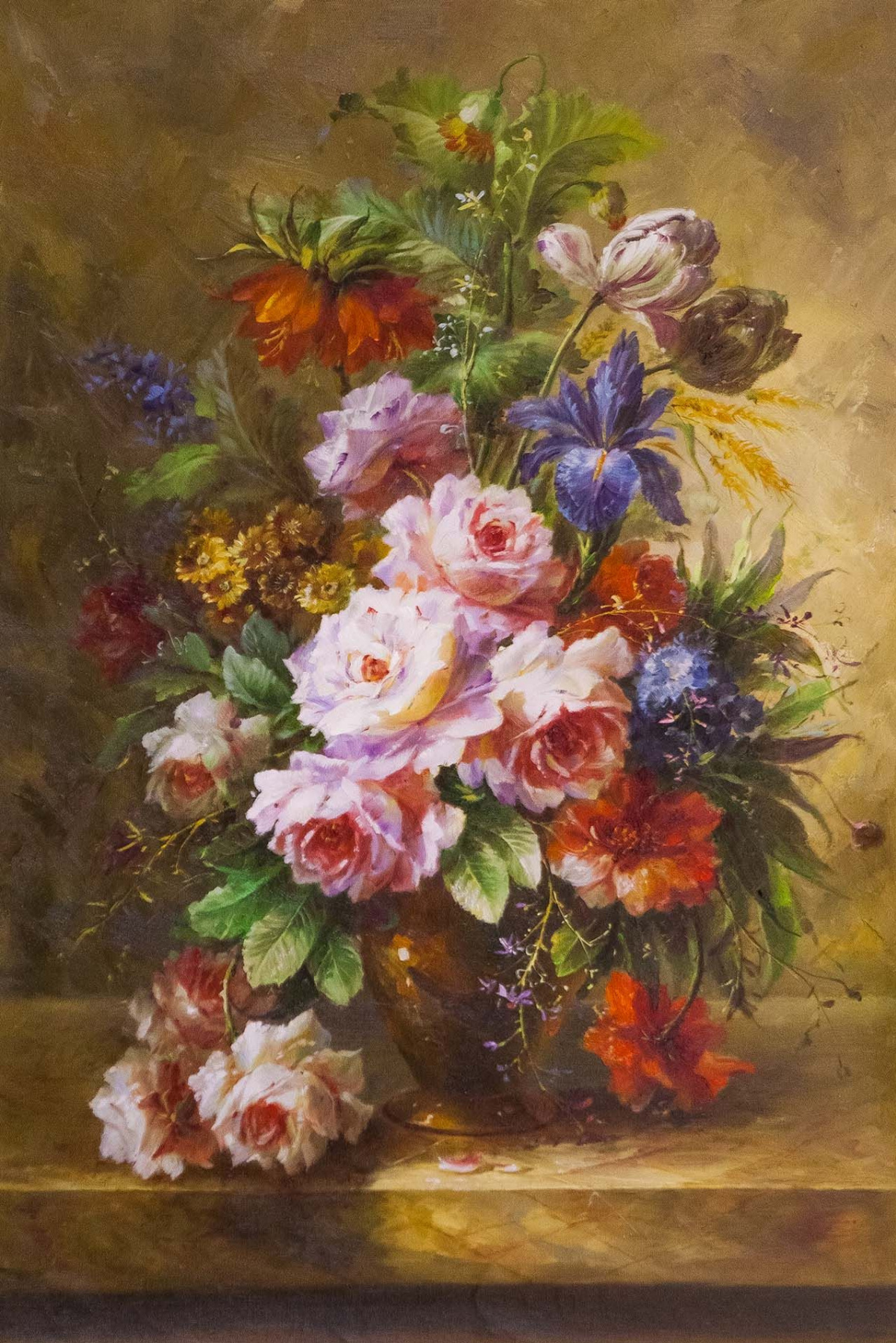 Savely Kamsky. Bouquet with tulips in the Baroque style N2