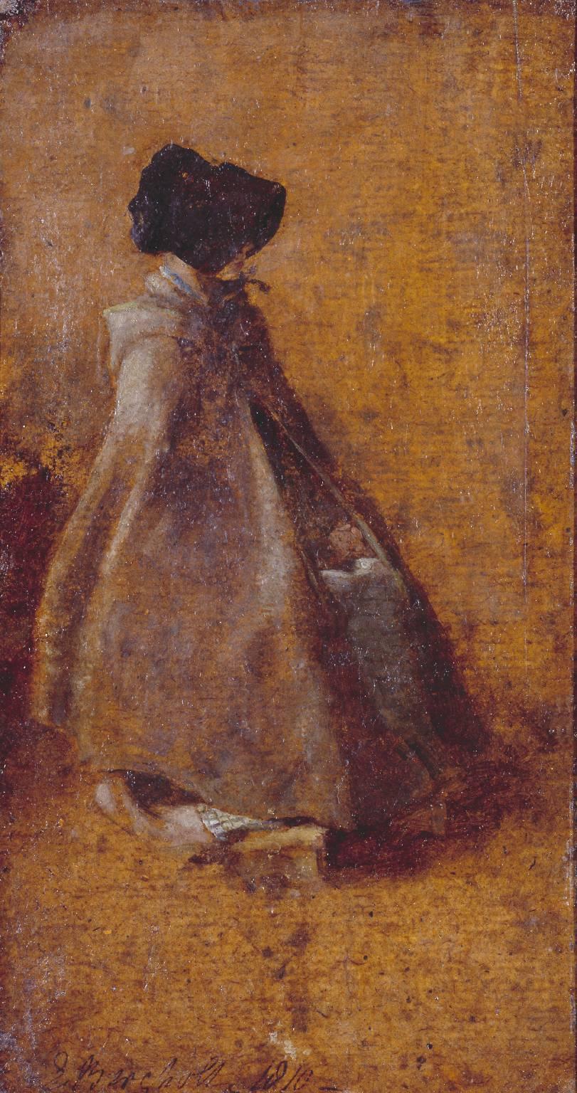 John Constable. Girl in cloak and hood. Sketch