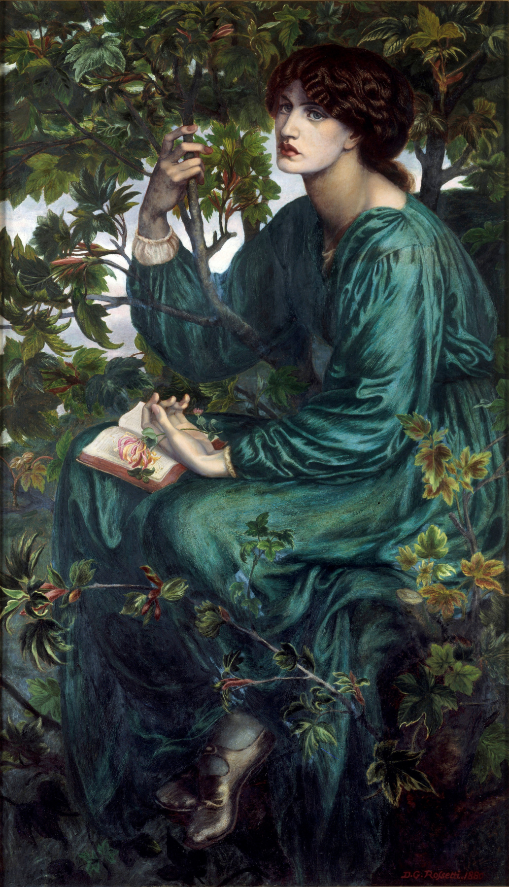 Dante Gabriel Rossetti. A waking dream (Day dream)