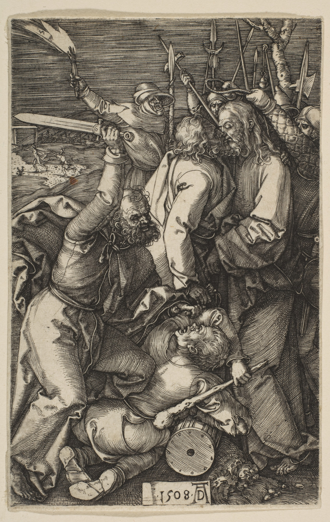"""Albrecht Dürer. The Betrayal Of Christ. From the cycle """"the passion of the Christ"""""""