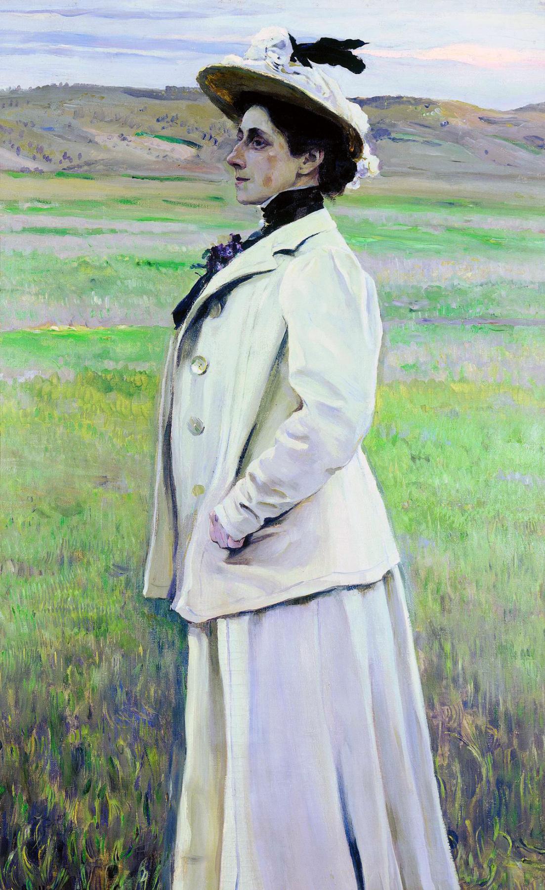 Mikhail Vasilyevich Nesterov. Portrait of Princess N. G. Ashwill