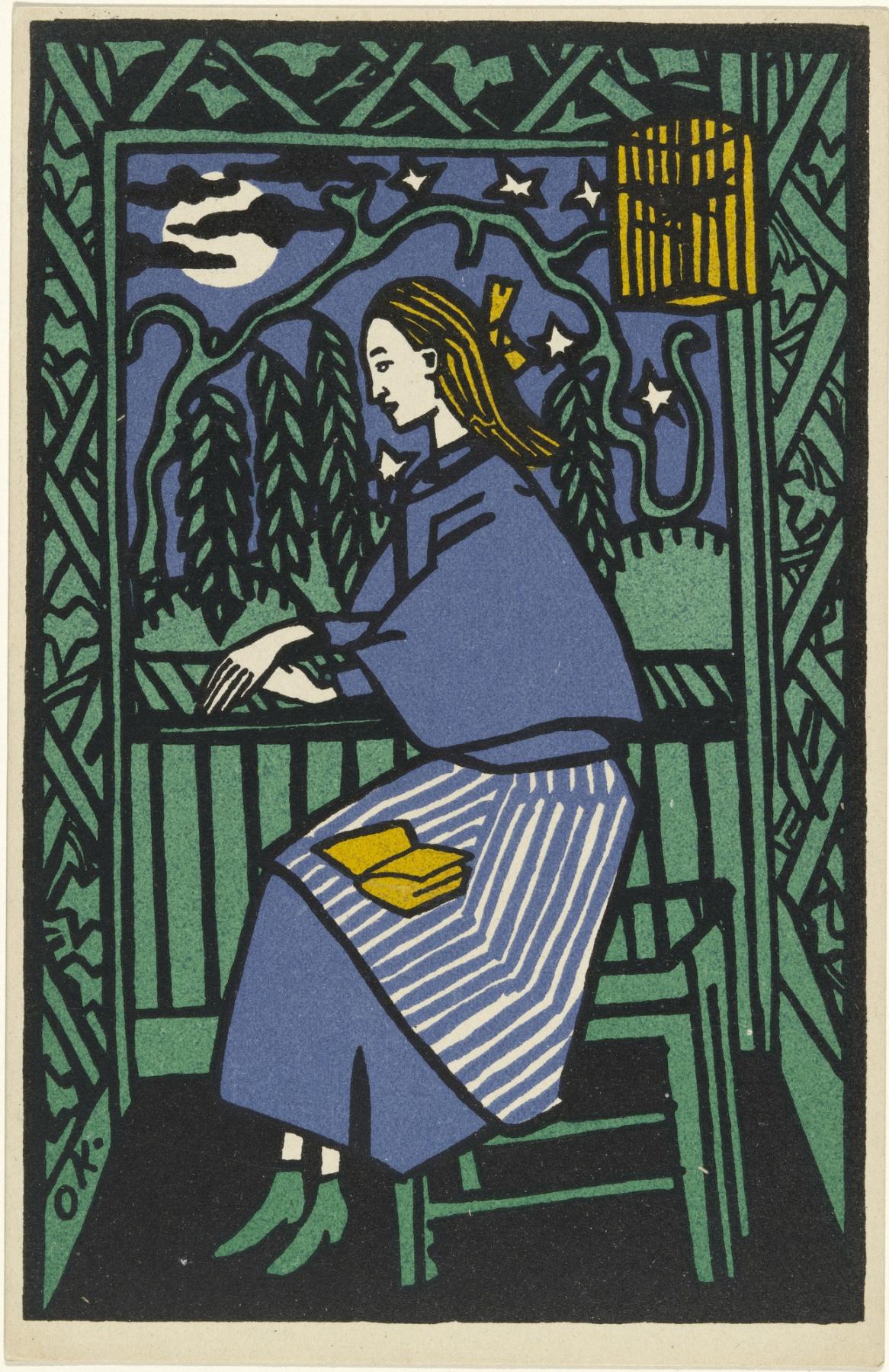 Oskar Kokoschka. The girl at the window